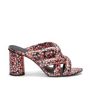 Rebecca Minkoff amandine block heel sandal floral